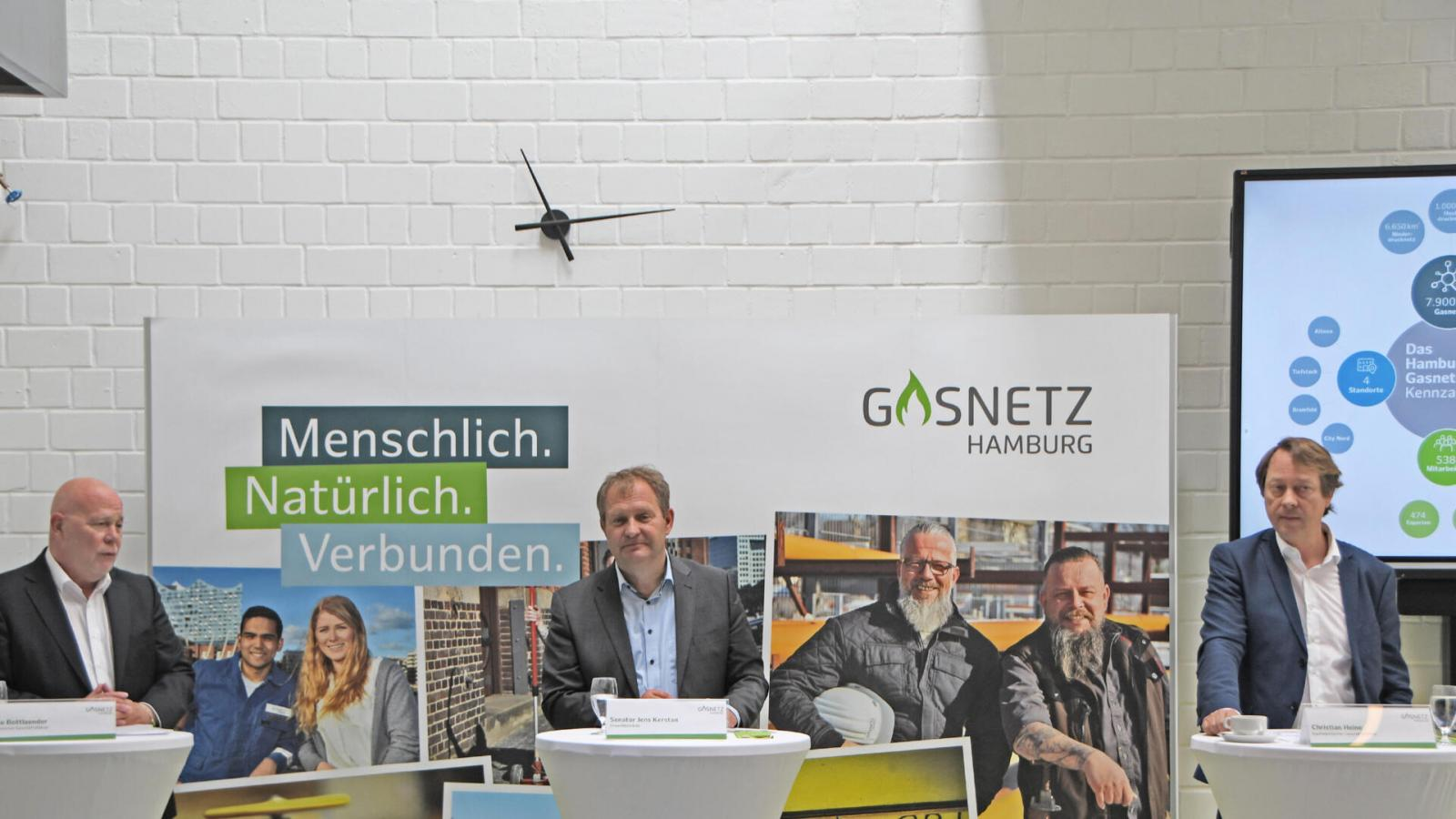 Gasnetz Hamburg's press conference