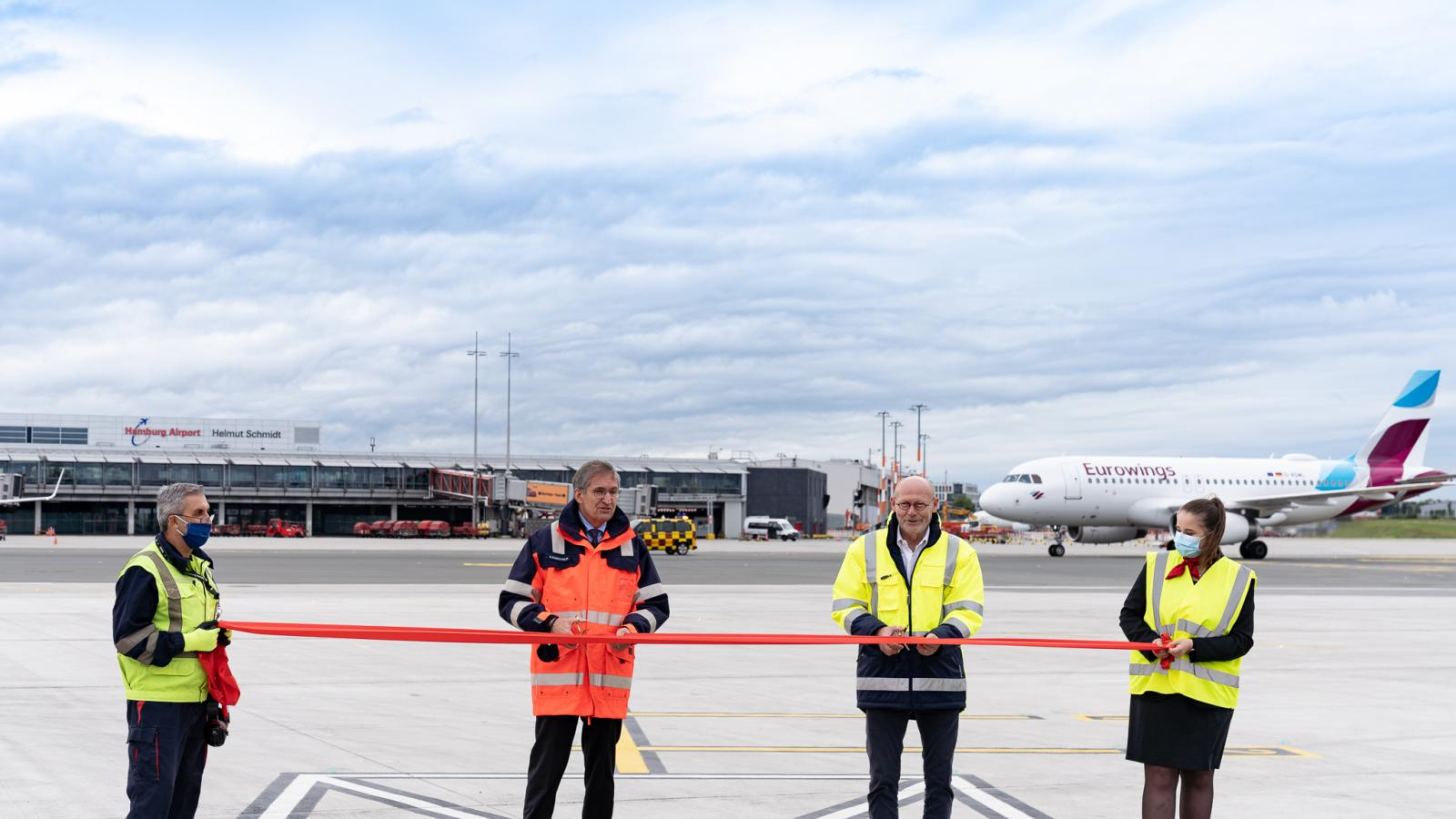 Hamburg Airport's new apron