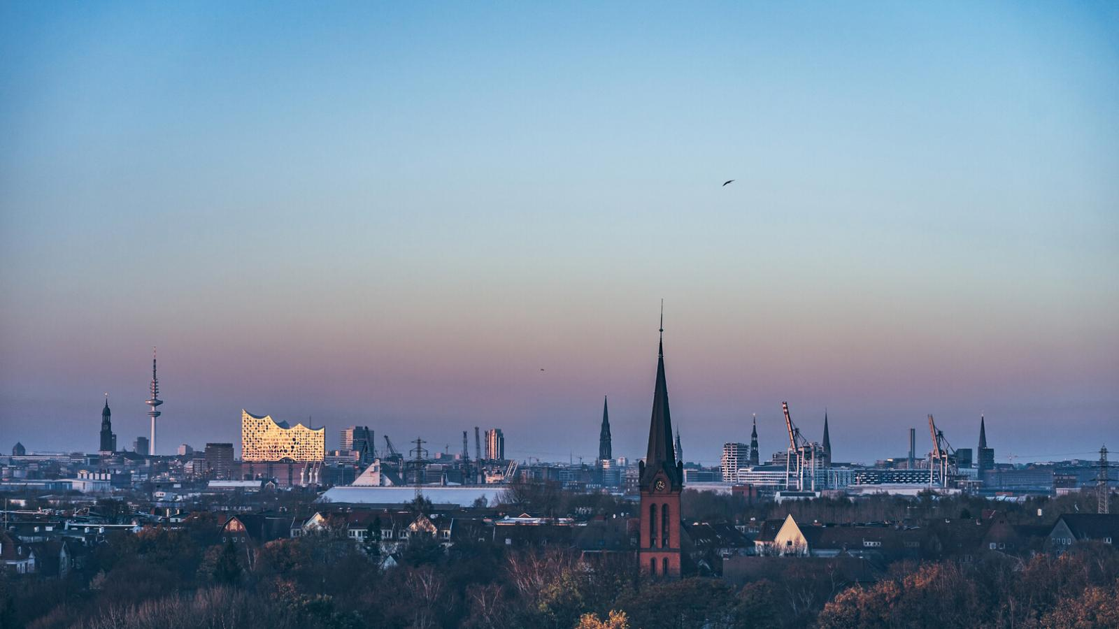 Hamburg's skyline